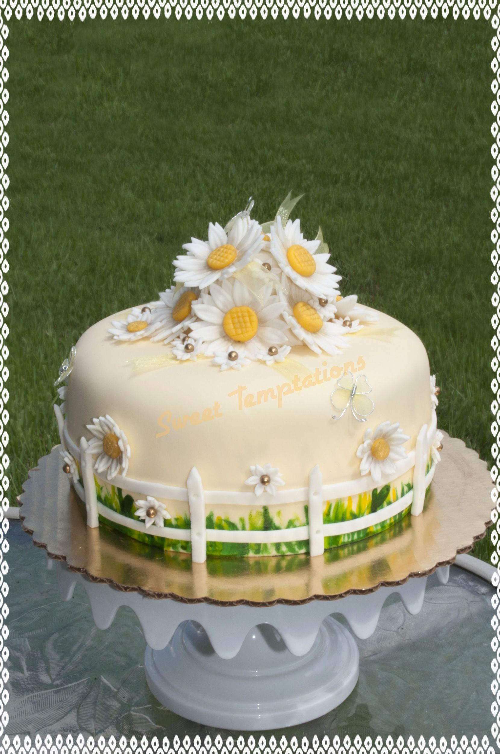 Daisy Flower Cake Sweet Temptations Cakes Cookies Pinterest