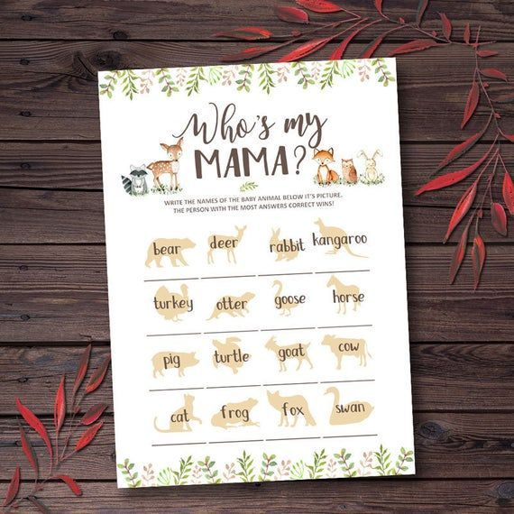 Woodland Baby Shower Games Printable Who's My Mama Baby Shower Activities Who Is My Mama Mommy Baby Shower Game Cards Instant Download pxb29 -   - #activities #Baby #BabyShowerscomida #BabyShowersdress #BabyShowersprintables #BabyShowersprizes #BabyShowersrecuerditos #BabyShowerssouvenirs #Cards #Download #Game #games #Instant #Mama #Mommy #printable #pxb29 #Shower #Whos #Woodland