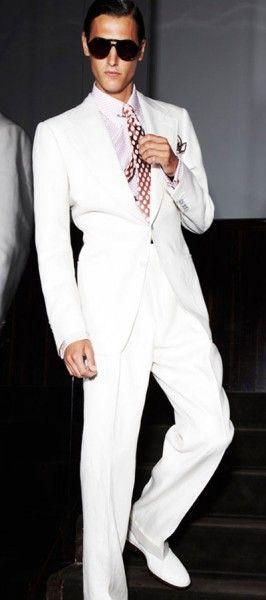 mens fashion, sunglasses, white, suit
