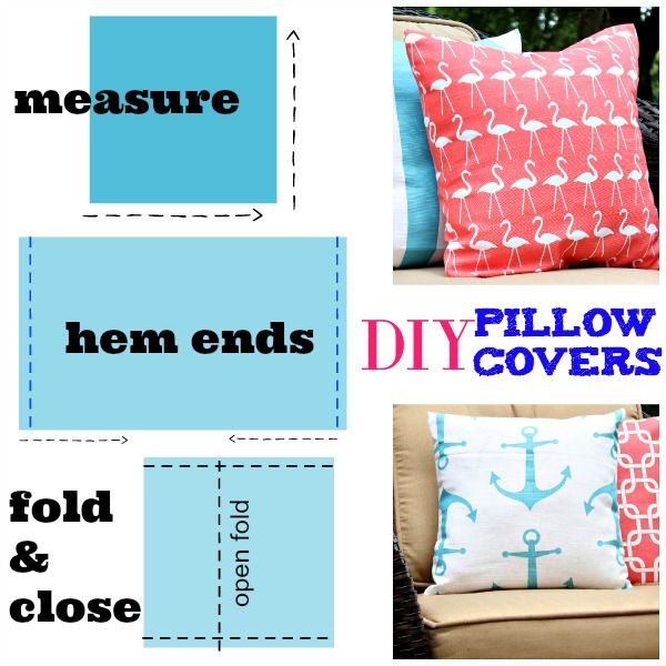 DIY Outdoor Pillow Covers | Refresh