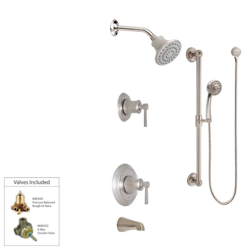 View The Mirabelle Mirptcptdshf Luxury Shower System Includes