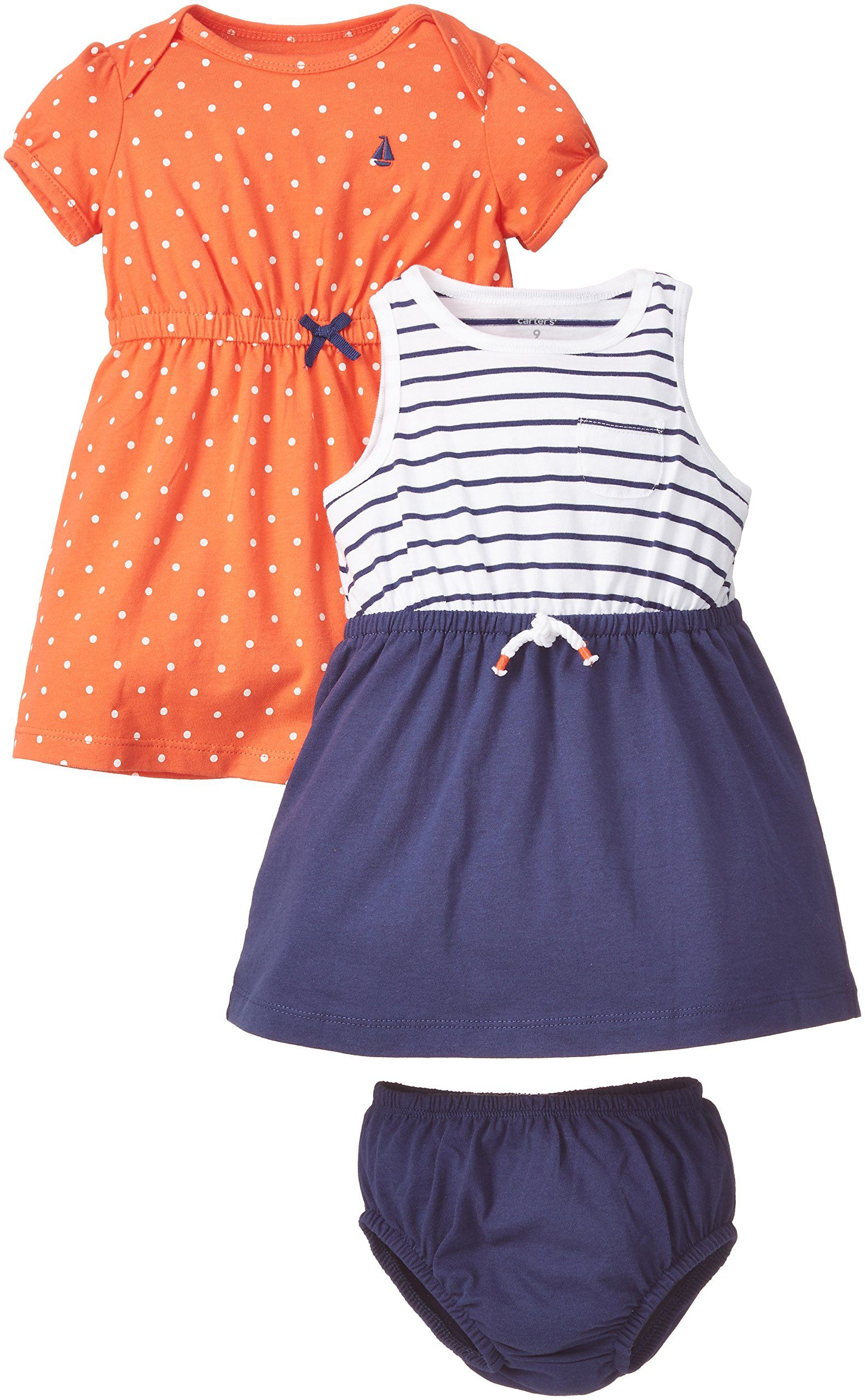 Carter s Baby Girls 2 Pack Dresses 18 months