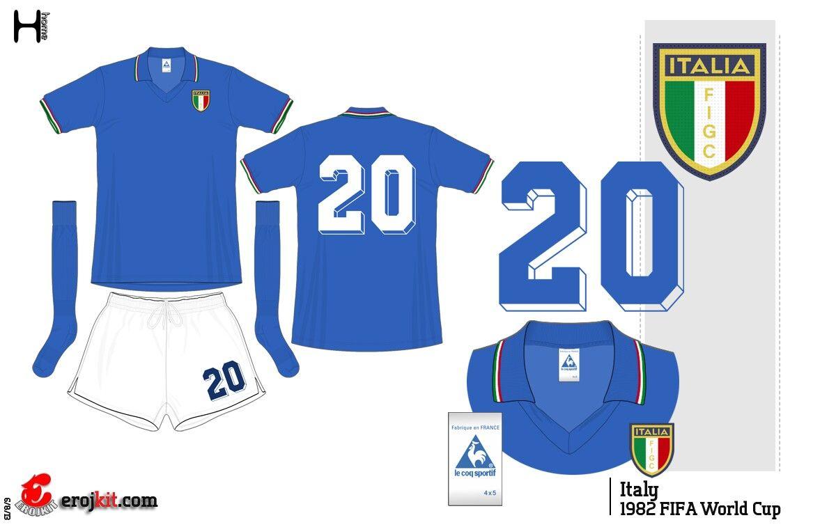Italy 1982 World Cup Final Retro Shirt