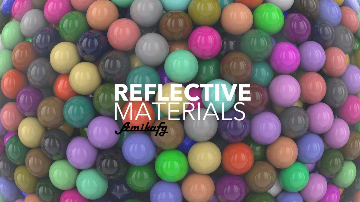 Cinema4D Reflective Materials Pack (Free Download) by