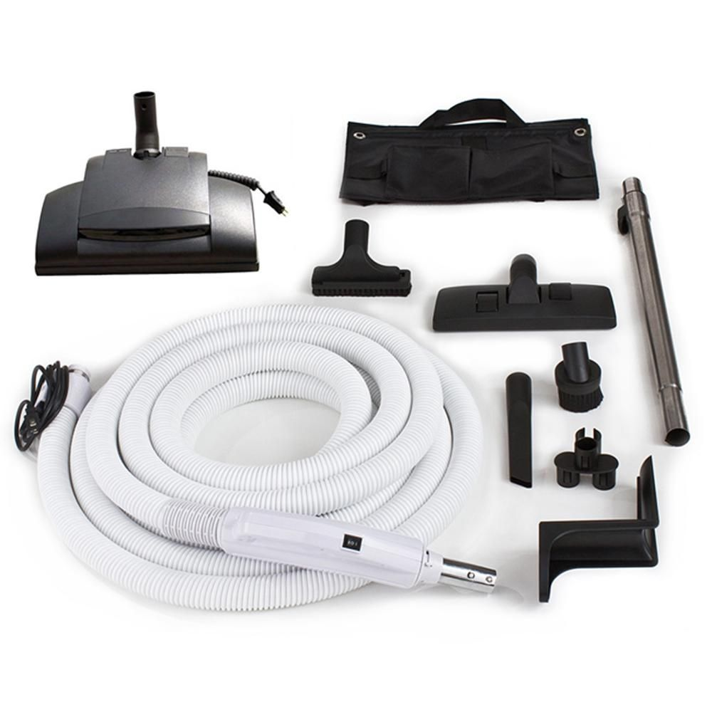 Prolux 30 Ft Central Vacuum Hose Kit With Vessel Werk Power Nozzle Designed To Fit All Brands Gv30ww The Home Depot Nozzle Design Central Vacuum Vacuums