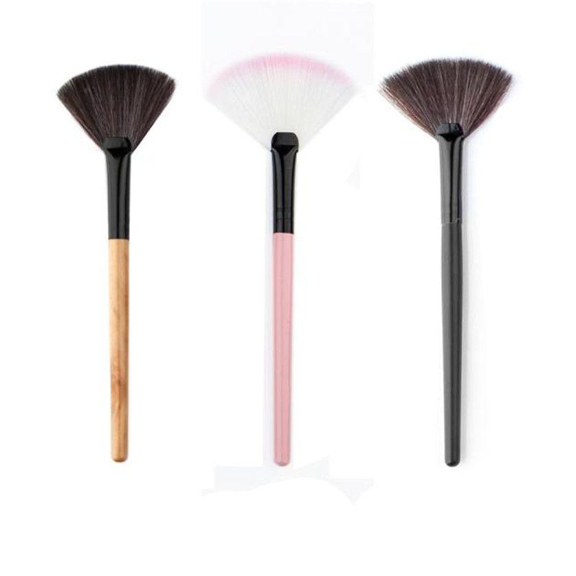 1 Stuck Fan Form Makeup Fan Blush Face Powder Foundation Kosmetik