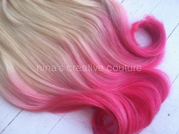 Dip dye ombre hair extensions cotton candy by ninascreativecouture dip dye ombre hair extensions cotton candy by ninascreativecouture pmusecretfo Images