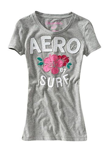 d76f924c8045 Aeropostale Women's Sequined Aero Script Graphic T Shirt | Fashion ...