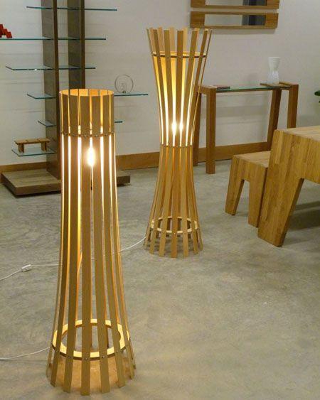 Wooden Floor Lamp | Wood | Pinterest | Wooden floor lamps, Floor ...
