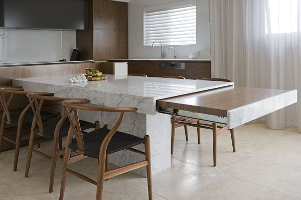 Hidden Kitchen Design Check Out All Pics Modern Kitchen Table That Extends  Decoist