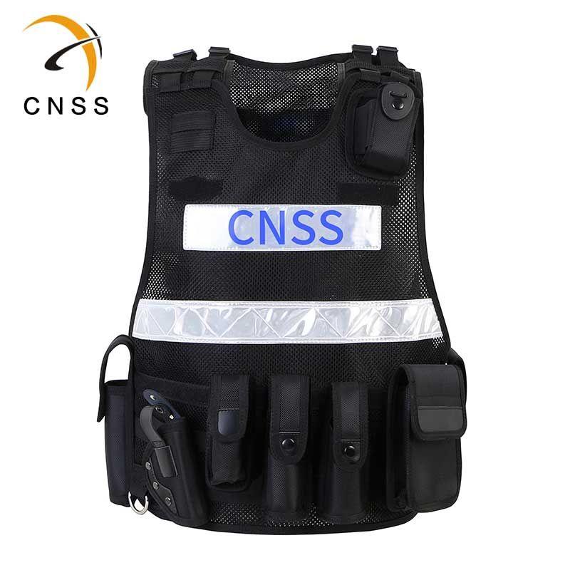 Chinastars New Design Black Safety Vest With Pvc Reflective Tape For Police Safety Vest Reflective Vest Vest