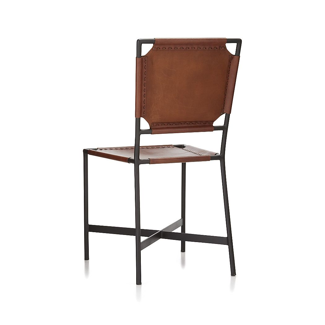 Cool Laredo Brown Leather Dining Chair Reviews Crate And Machost Co Dining Chair Design Ideas Machostcouk