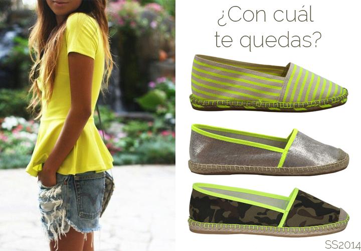 #espadrilles #yute #macarenashoes #fluor #yellow #camouflage
