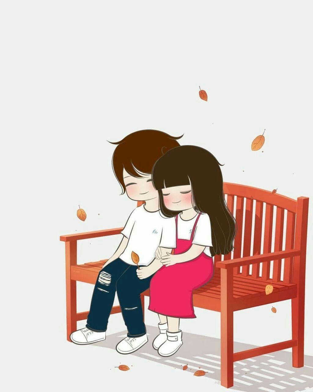 Pin On Web Pixer Couple cartoon love wallpaper full hd