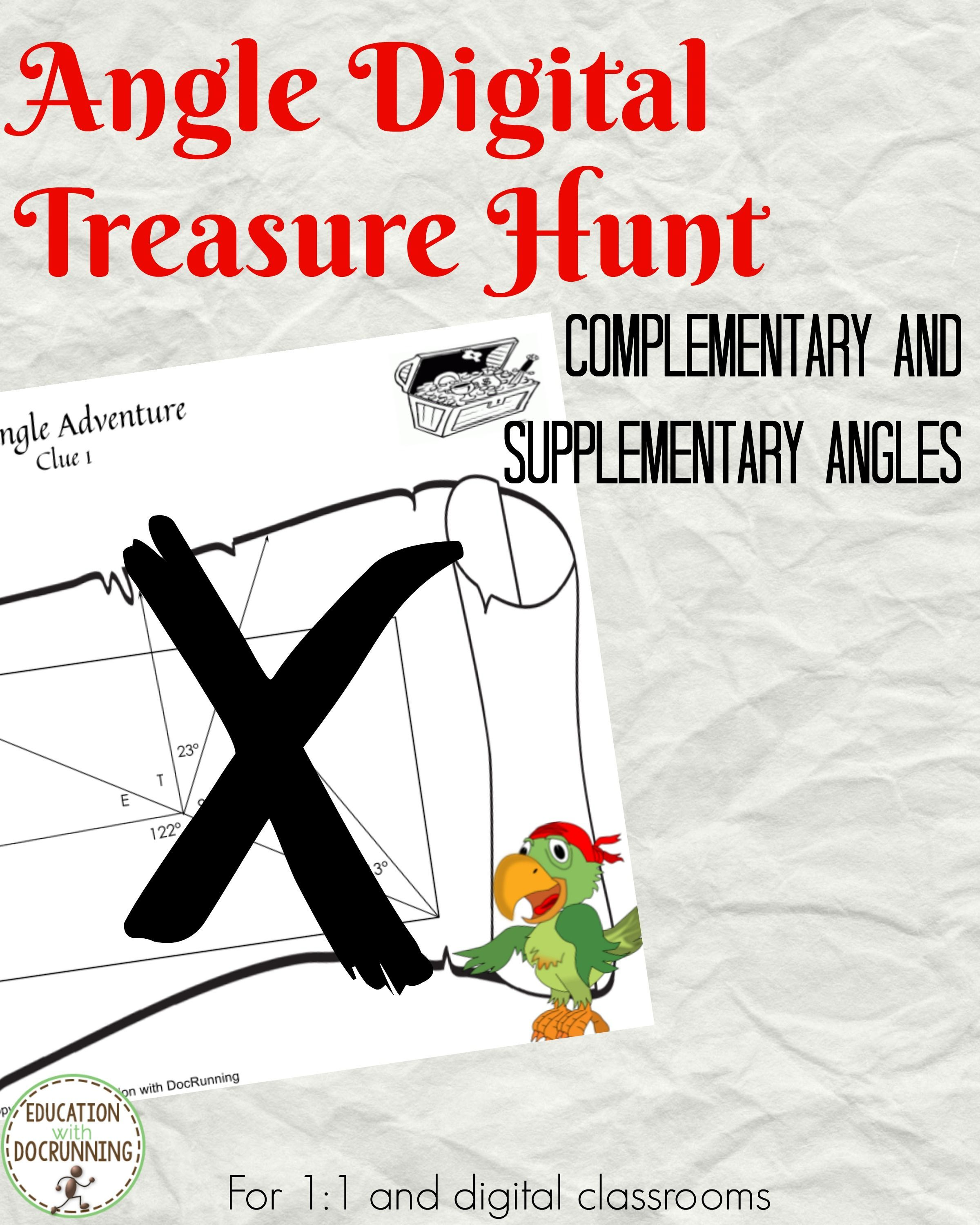 Complementary And Supplementary Angles Activity Digital