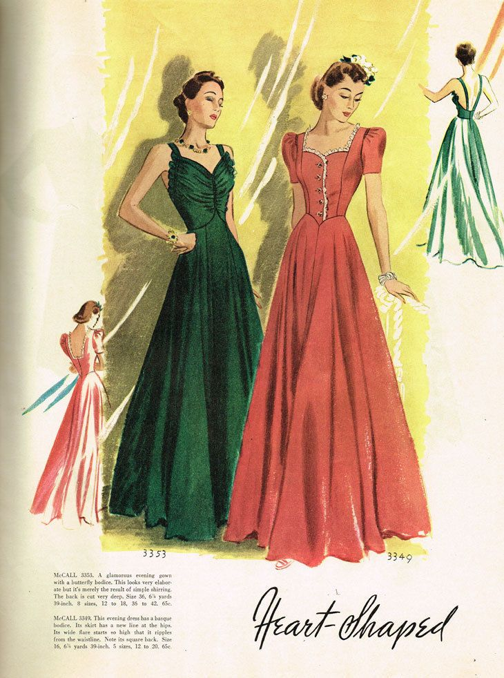 McCall Fashion Book, Autumn 1939 featuring McCall 3353 and 3349 ...