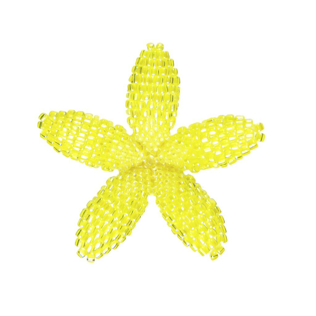 "Hawaii Bridal Wedding 1.75/"" Flower Hair Clip Orange Yellow Plumeria ~Set of 2"