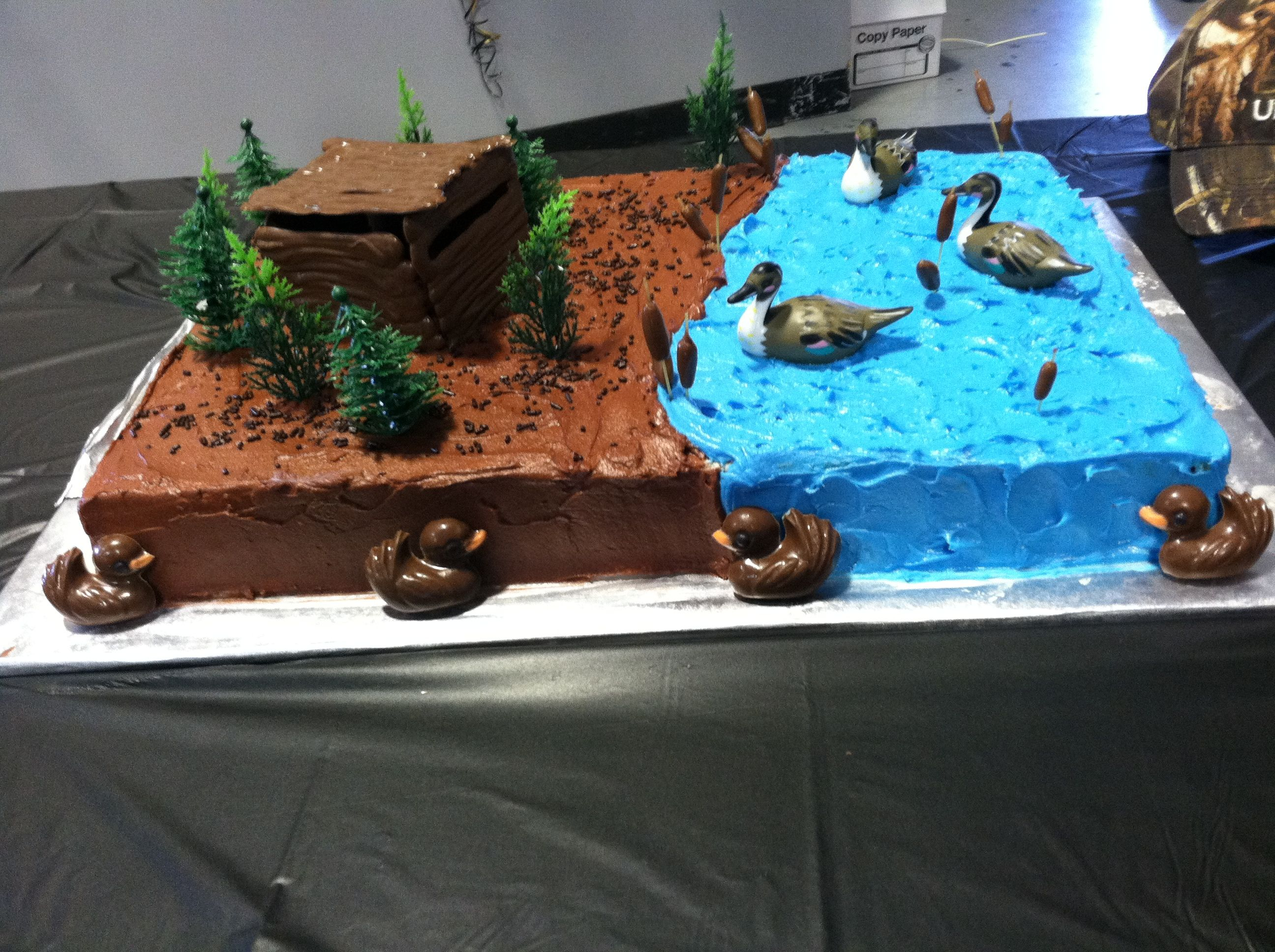 Duck Dynasty Cake Complete With Duck Blind With Images