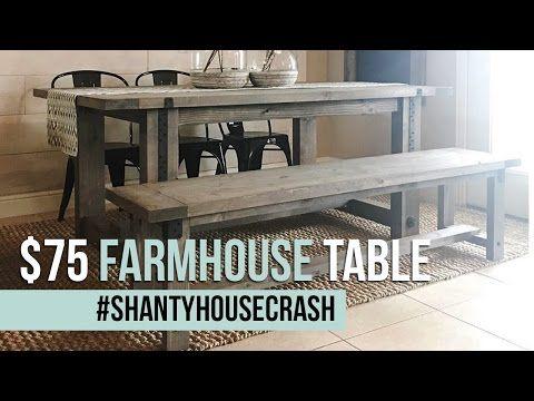 24+ Shanty 2 chic farmhouse table bench ideas