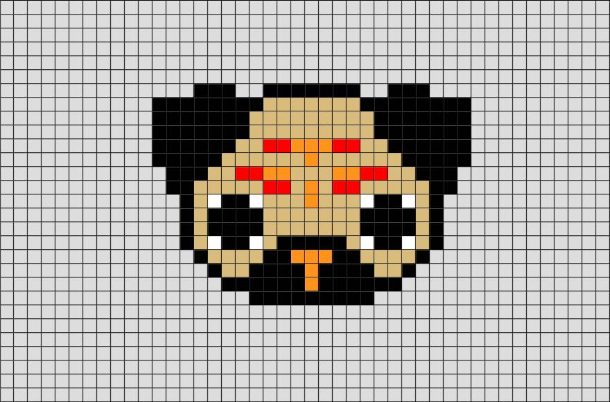 Pug Dog Pixel Art Pixel Art Dessin Pixel Facile Et Dessin