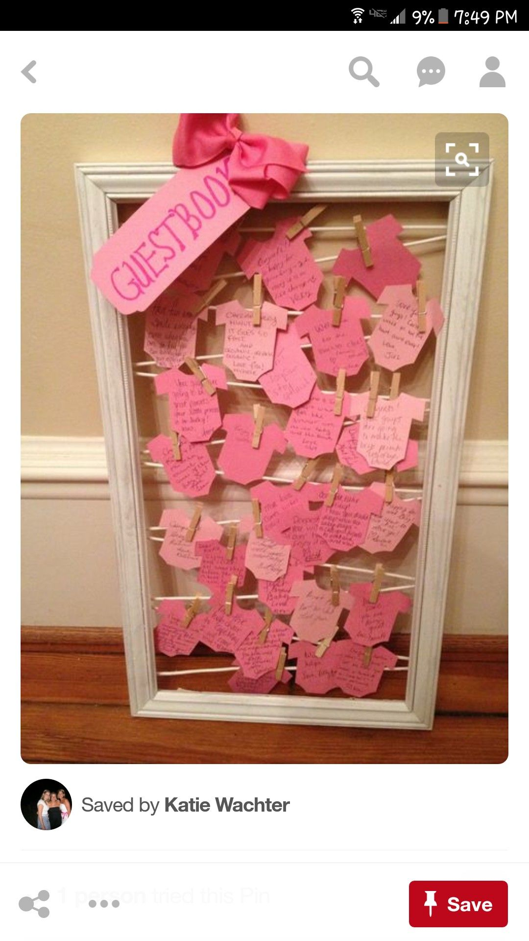 Onesie Guest Book For A Baby Shower
