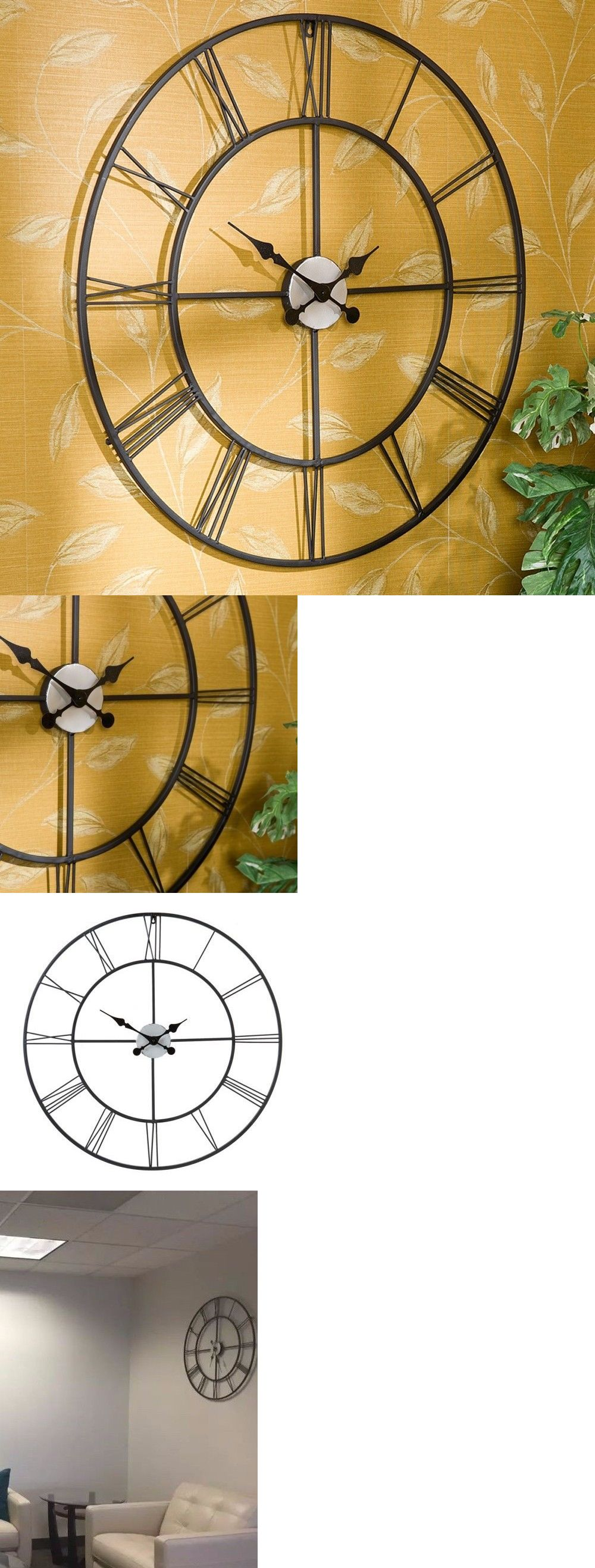 Wall Clocks 20561: Oversized Wall Clock Large Decorative For Living ...