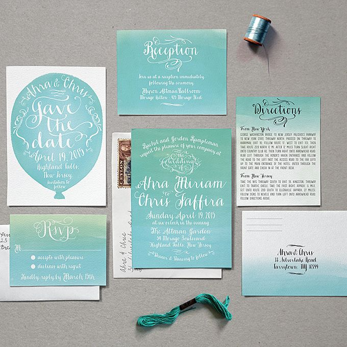 Woodsy Save The Date With Calligraphy Blue Wedding Invitationsprintable