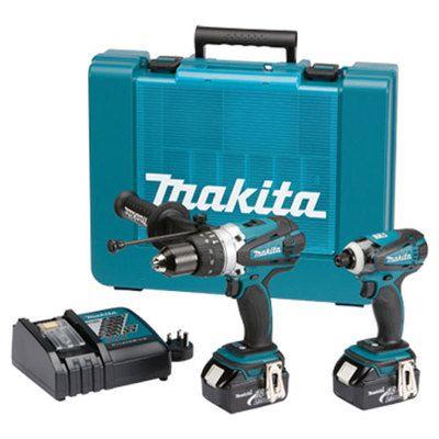 Makita 18v Lithium Ion Cordless 2pce Combo Kit Bonus Dlx2145x1 Makita Power Tools Combo Kit Power Tool Batteries