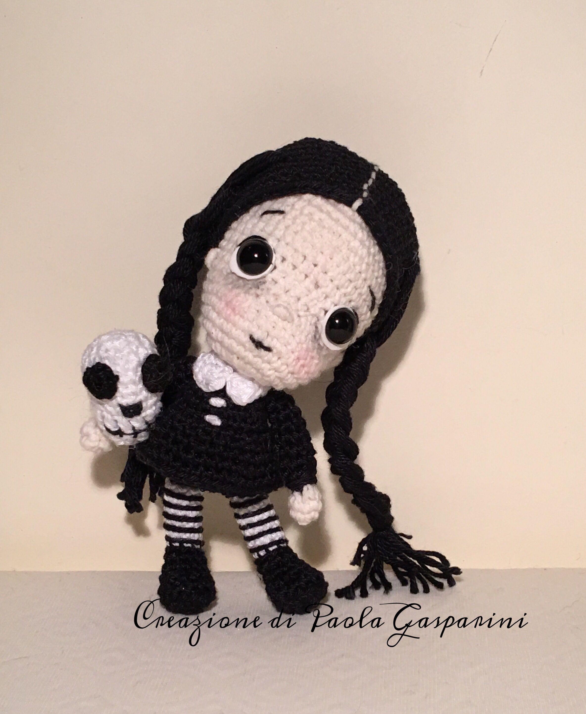 Wednesday Addams Doll Pattern by Elfin Thread | Häkeln | Pinterest ...