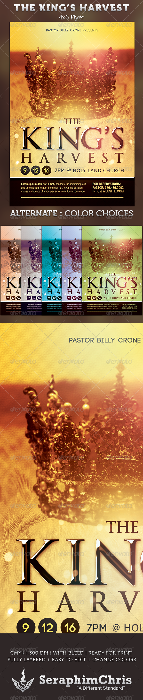 The KingS Harvest Church Flyer Template  Harvest Church Flyer