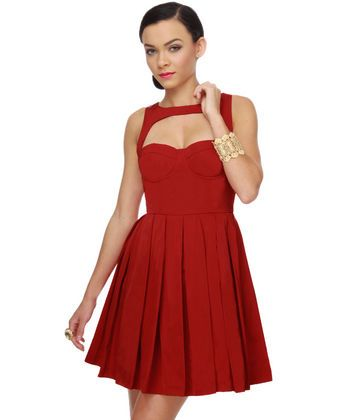 Almost bought this dress a couple of months ago...this image makes me regret my decision on not purchasing! --BB Dakota Kassia Red Dress