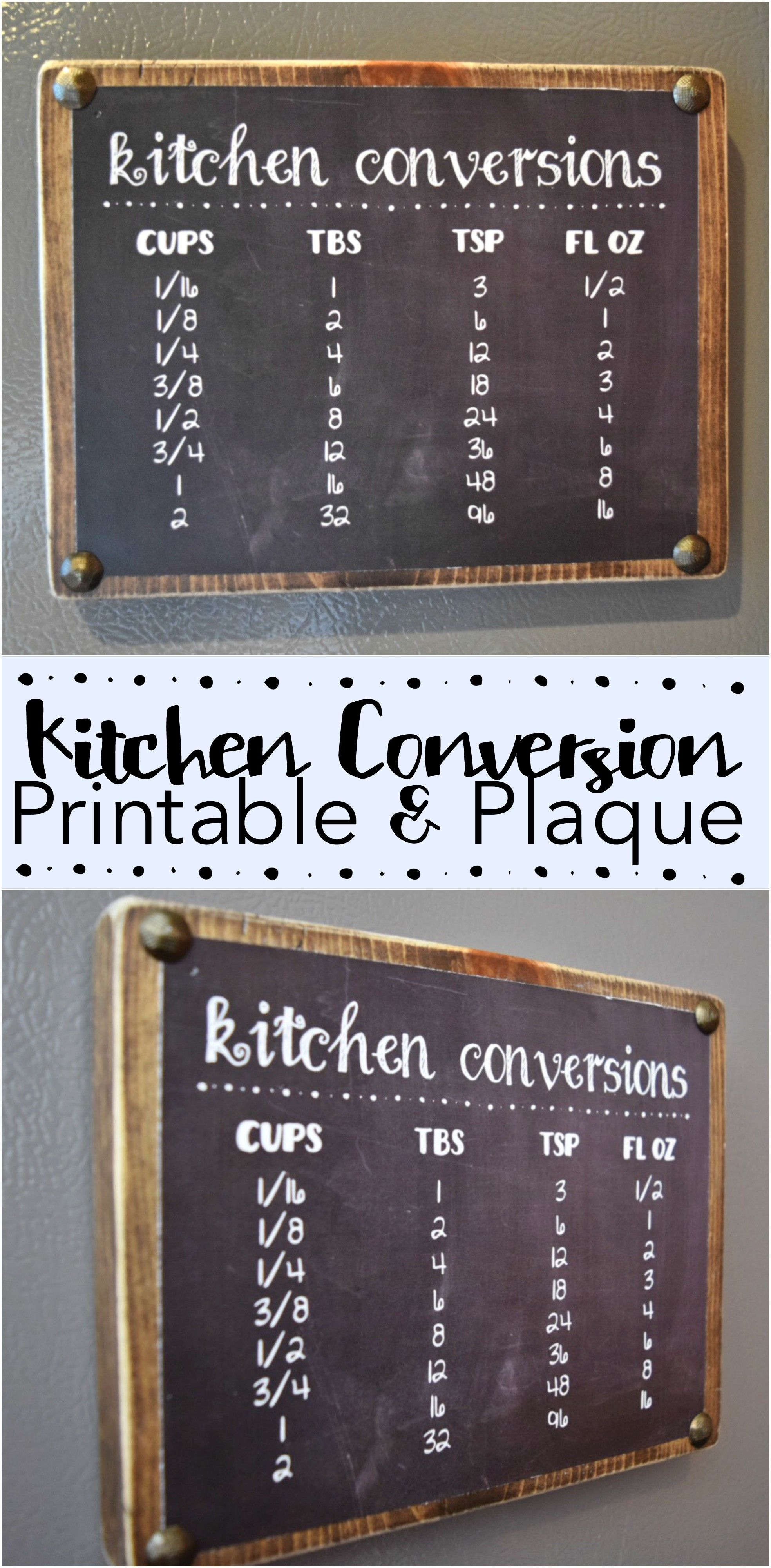 Gift For The Kitchen Cooking Measurement Conversions Cutting Board Kitchen Cheat Sheet
