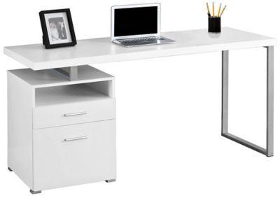 """Remus 60"""" White Desk"""