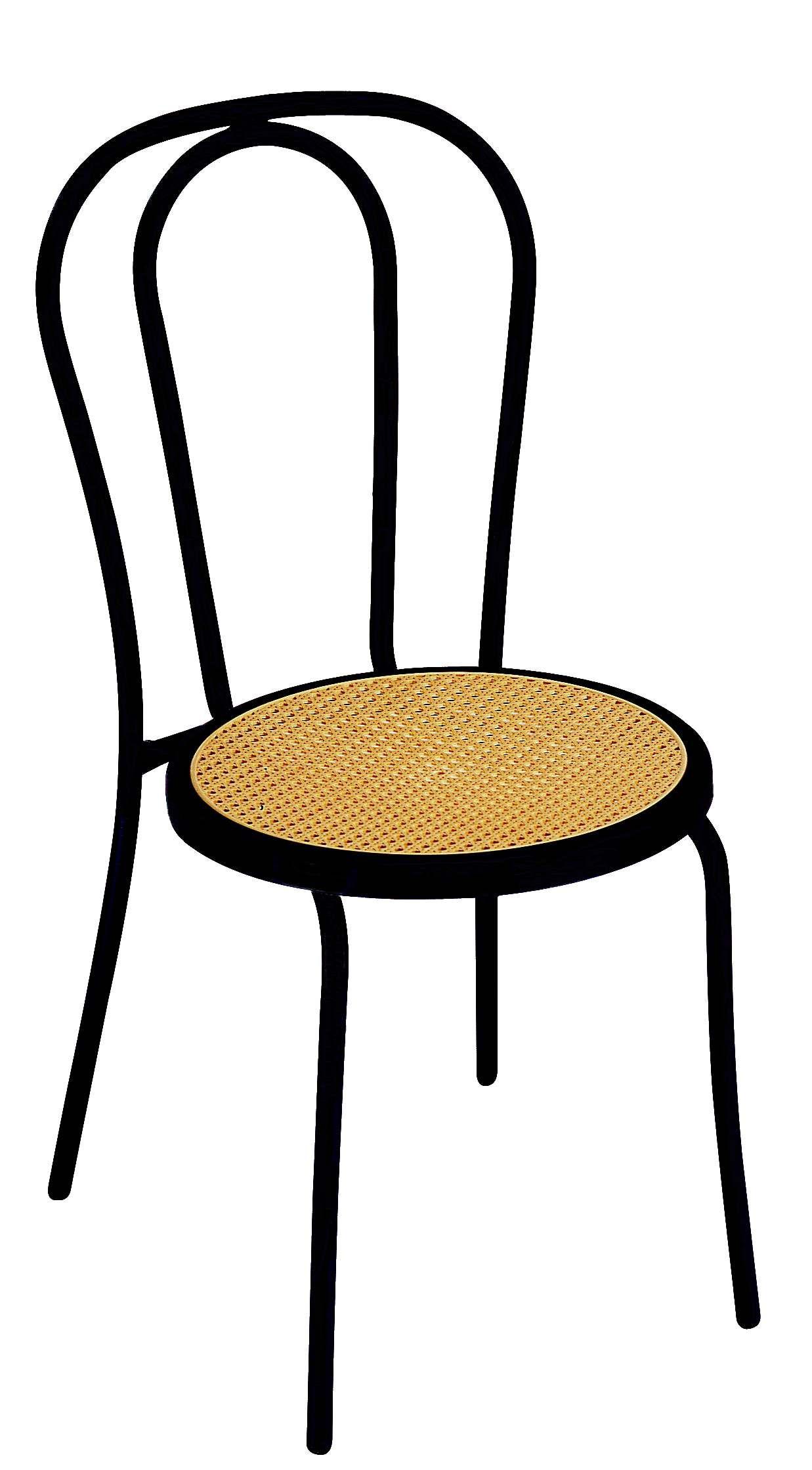 chaise bistro retro paille noir chaise chair chaiseempilable terrasse mobilierjardin - Chaise Retro