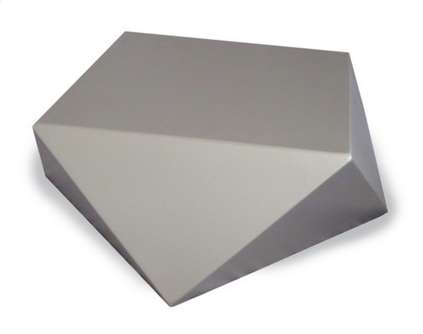 To get the look of the coffee table, try this Faceted Coffee Table (price upon request).