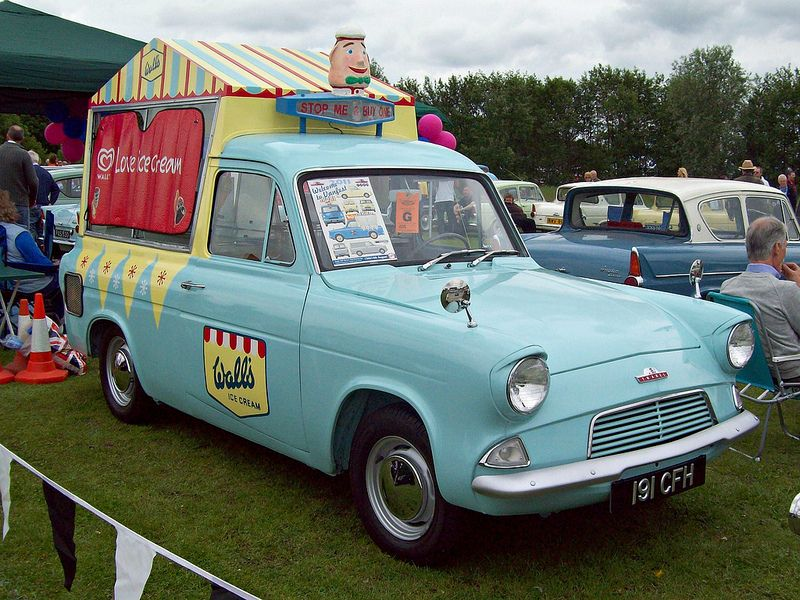 132 Ford Thames Anglia 397e 5cwt 1962 Walls Ice Cream Van Ice Cream Van Walls Ice Cream Ice Cream Truck