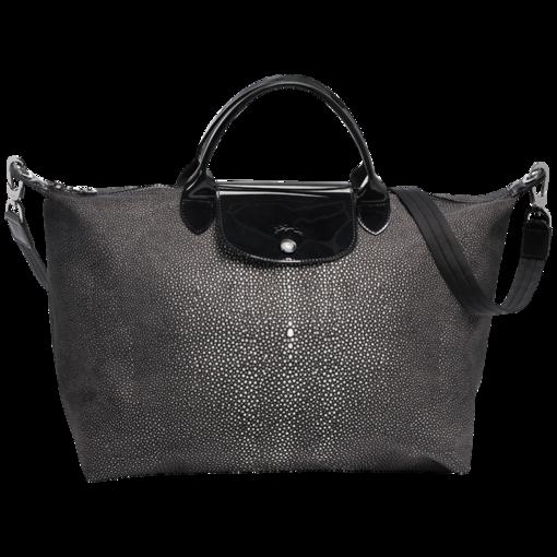 "Longchamp Le Pliage Neo Fantaisie handbag $196 ""Iron""  15.75 x 12.25"" x 7"