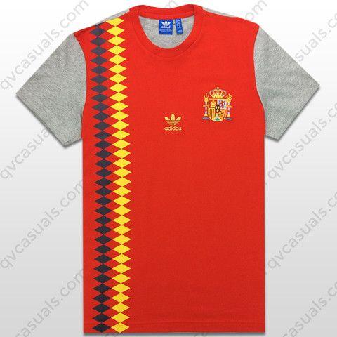 romano Licuar Alrededores  adidas Originals Mens Spain Football Tee | Personalized t shirts, Adidas  originals mens, Football tshirts