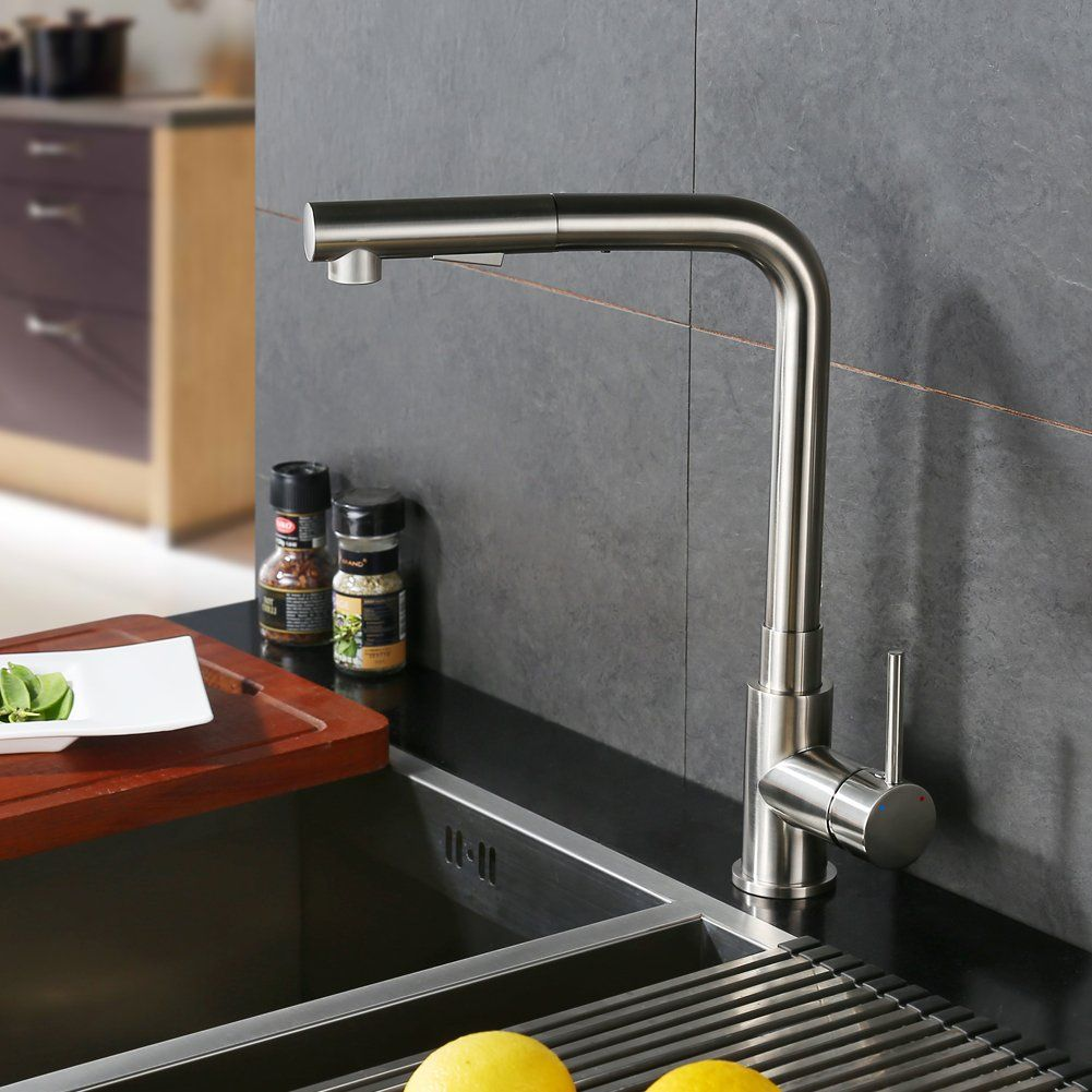 CREA Kitchen Faucet Modern Brass Single Lever