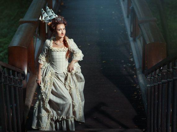 Marie Antoinette 18th Century dress, Baroque Georgian gown, rococo ...