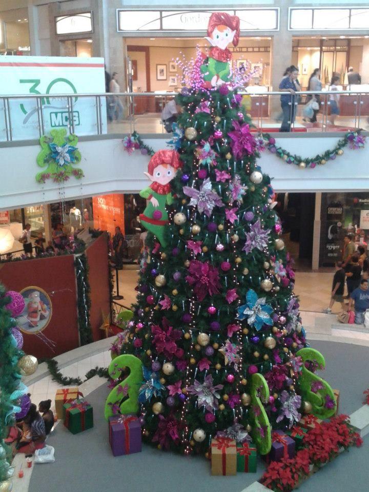 Christmas In Puerto Rico.Christmas Tree At Plaza Carolina San Juan Puerto Rico By