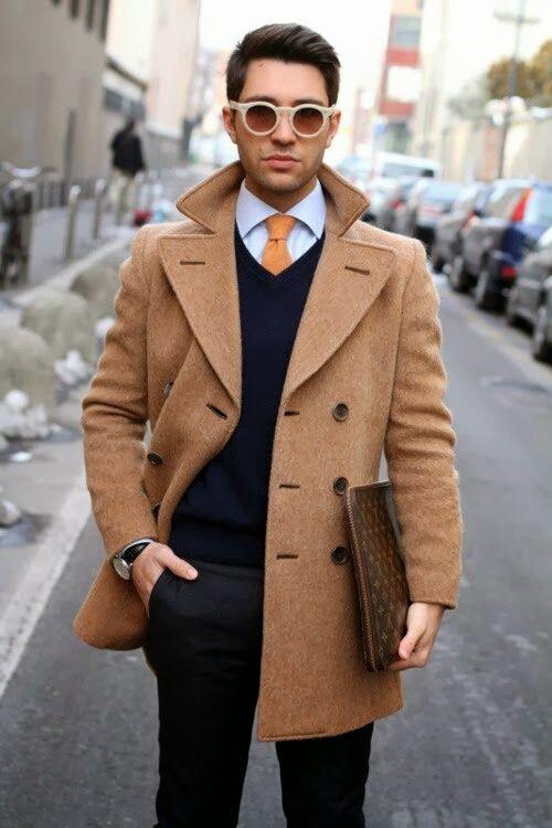 JUST Men's Style: Modrá & hnedá: novodobá klasika