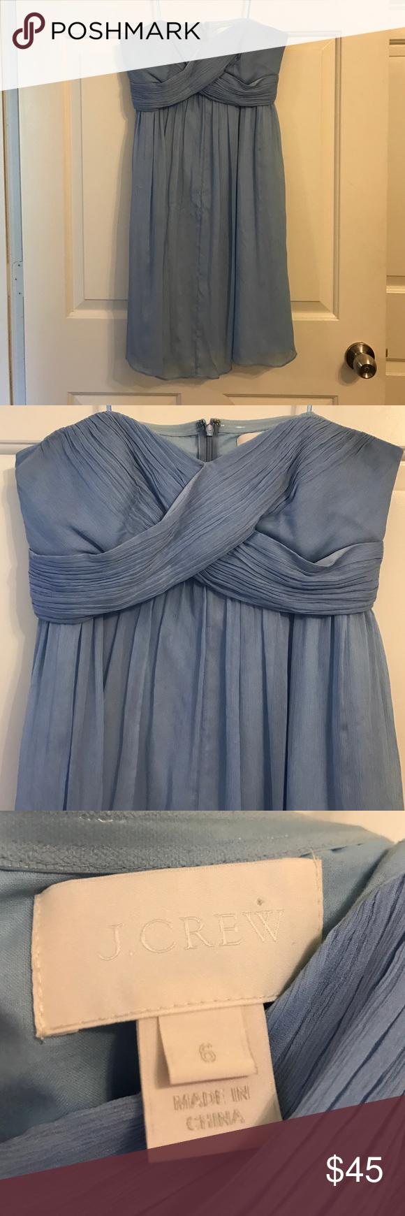 J crew bridesmaid dress light blue with crisscross front j crew bridesmaid dress ombrellifo Gallery