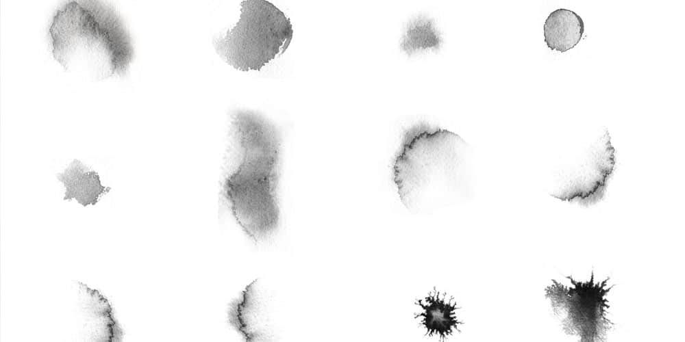 Free Ink And Watercolor Brushes For Photoshop Photoshop Brushes