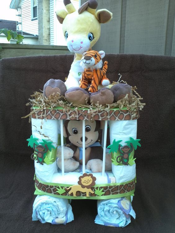 Monkey In A Cage Diy Baby Shower Gift Basket Ideas For Boys