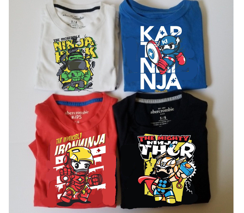 Avengers Svg Thor Hulk Captain America IronMan Ninja Funko