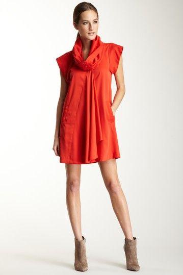 Gracia Foldover Collar Dress on HauteLook