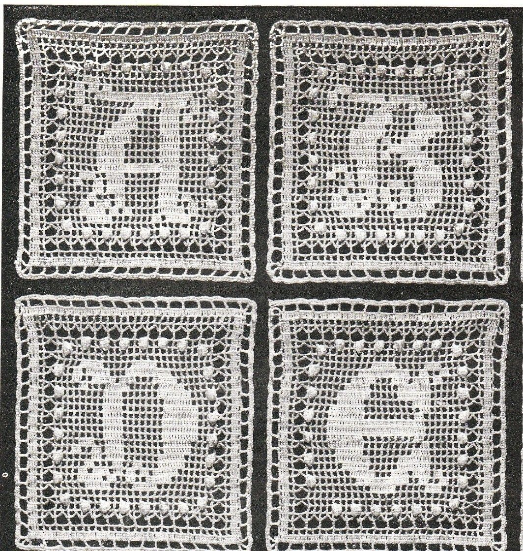 Vintage 'alphabet' crochet square pattern- a to z , afgans, throws, etc pdf email delivery. $7.50, via Etsy.