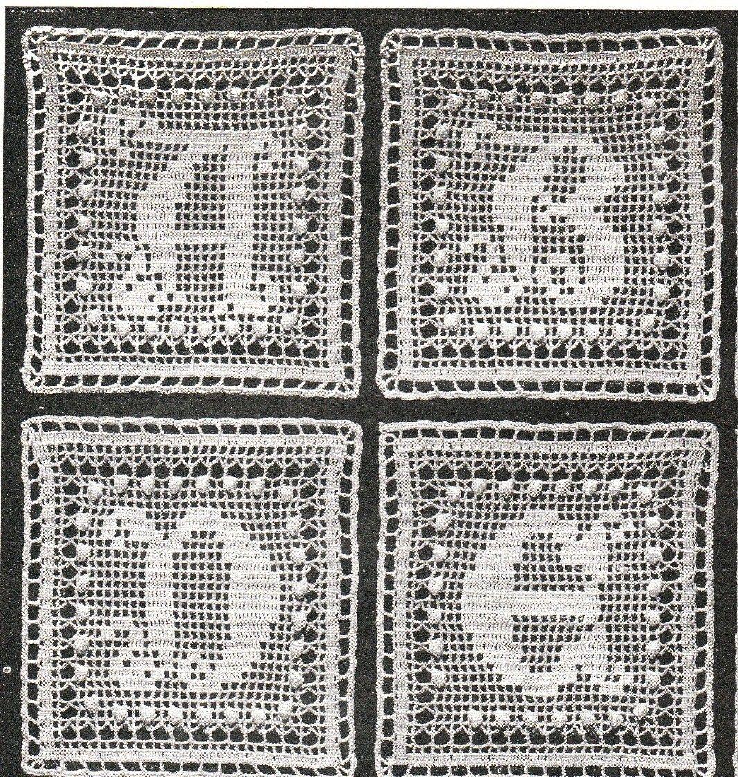Instant Download Vintage Alphabet Crochet Square Pattern A To Z