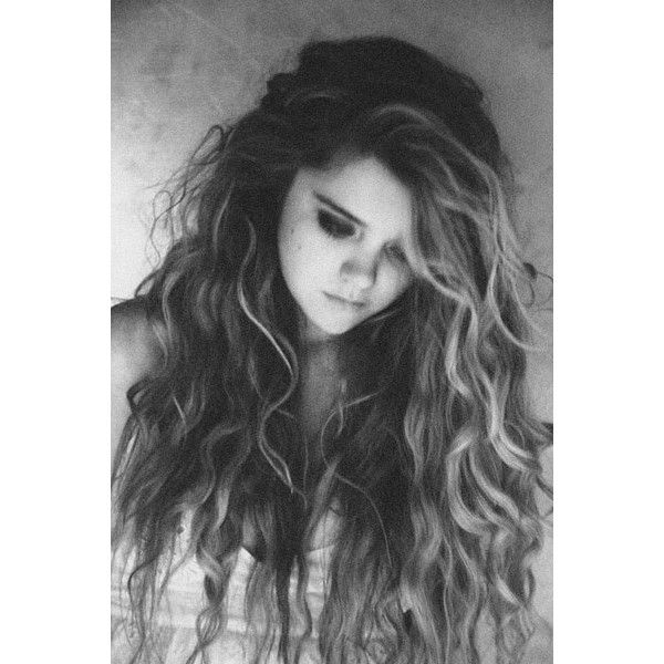long curls, big, messy, thick, volume, grunge, pretty, cute, natural, B&W, classic